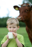 Drinking milk Royalty Free Stock Photo
