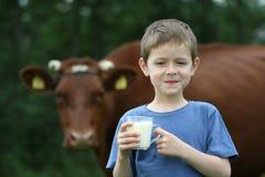 Drinking milk royalty free stock photo