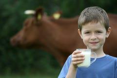 Drinking milk Stock Image