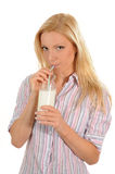 Drinking milk Stock Photography