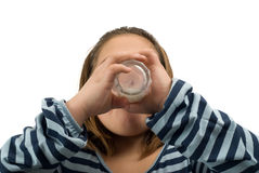 Drinking Milk Royalty Free Stock Photography