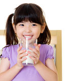 Drinking milk Royalty Free Stock Photography