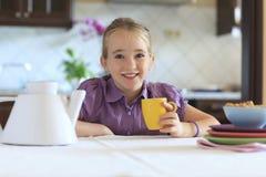 Drinking Milk stock photo