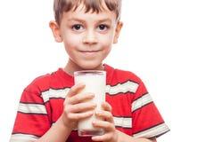 Drinking milk Royalty Free Stock Image