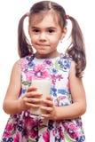 Drinking milk Stock Photography