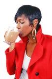 drinking mochaccino στοκ εικόνες