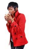drinking mochaccino στοκ φωτογραφία με δικαίωμα ελεύθερης χρήσης
