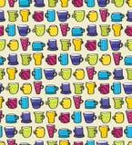 Drinking Mugs Seamless Background Royalty Free Stock Photos