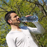 Drinking in a park Stock Images