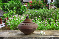 Drinking pot from earthenware Stock Photography