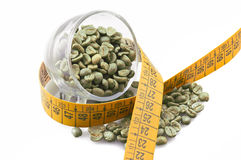 Drinking raw green coffee stock images