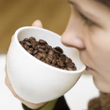Drinking real coffee Royalty Free Stock Photos