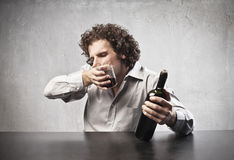 Drinking Red Wine Royalty Free Stock Photo
