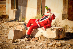 Drinking Santa Royalty Free Stock Photography