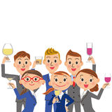 A drinking session and office worker meeting Stock Image