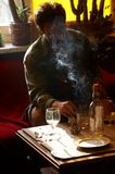 Drinking and smoking man Royalty Free Stock Photos