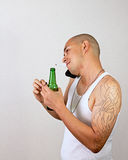 Drinking Smoking Talking Royalty Free Stock Photography