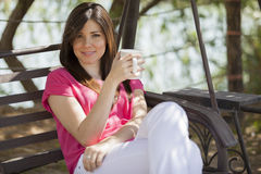 Drinking some coffee to wake up Royalty Free Stock Photo