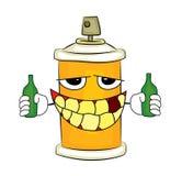 Drinking Spray can cartoon Stock Photo