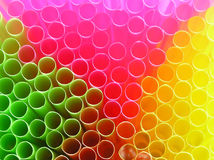 Drinking straw. Background with close-up of multi colored drinking straw stock images