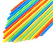 Drinking straw background Stock Photos