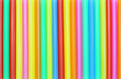 Drinking straw colorful abstract Stock Image
