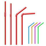 Drinking straw set Royalty Free Stock Photos