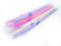 Drinking Straws. Assorted drinking straws, pastel colors and transparent stock images