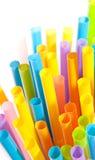 Drinking straws. Isolated on white background Royalty Free Stock Photo