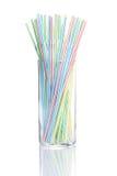 Drinking straws Stock Photos