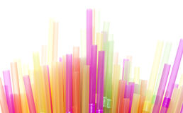 Drinking Straws. In many different colours Stock Image