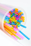 The drinking straws Stock Images