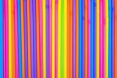 Drinking straws as colorful background. Royalty Free Stock Photo