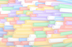 Drinking straws background Royalty Free Stock Images