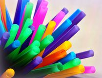 Drinking straws. Bunch of colorful, vibrant drinking straws Royalty Free Stock Image