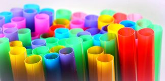 Drinking straws. Bunch of drinking straws in lovely vibrant colors Stock Images