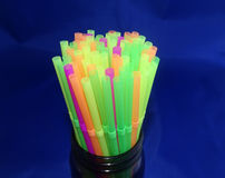 Drinking straws close up Royalty Free Stock Image