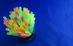 Drinking straws close up Stock Images