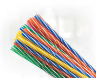 Drinking Straws. Colored drinking straws  on white Stock Image