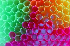Drinking straws. On white background Royalty Free Stock Photography