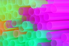 Drinking straws. On white background Royalty Free Stock Images