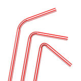 Drinking straws isolated on a white Royalty Free Stock Images