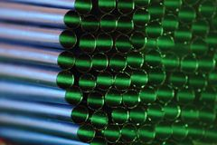 Drinking straws with light from behind Stock Image