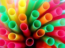 Drinking straws macro Royalty Free Stock Photography
