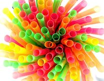 Drinking straws macro Royalty Free Stock Images