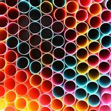 Drinking straws. Macro abstract image with beautiful multi-colored background. Royalty Free Stock Image