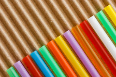 Drinking straws, paper Stock Photos