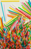Drinking Straws Pattern Stock Images