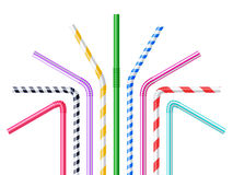 Drinking Straws Realistic Illustration Stock Image