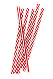 Drinking Straws Red and White Top View Isolated Royalty Free Stock Images